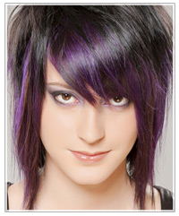 Fun purple hair color